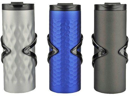 FISCHER 86070 Thermo Trinkbecher mit 350 ml, Blau/Schwarz/Silber für 10€ (statt 14€)