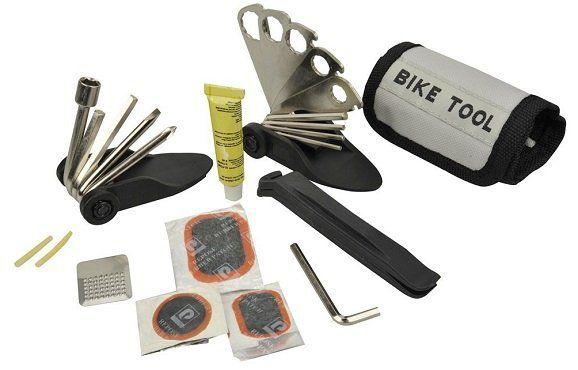 FISCHER 85516 Faltwerkzeug Tasche+ Flickzeug 33 teilig für 5€ (statt 10€)