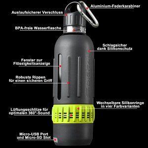 SDigital Spritz Marathon Kit, Trinkflaschen Set mit Bluetooth Lautsprecher und App für 20€ (statt 31€)