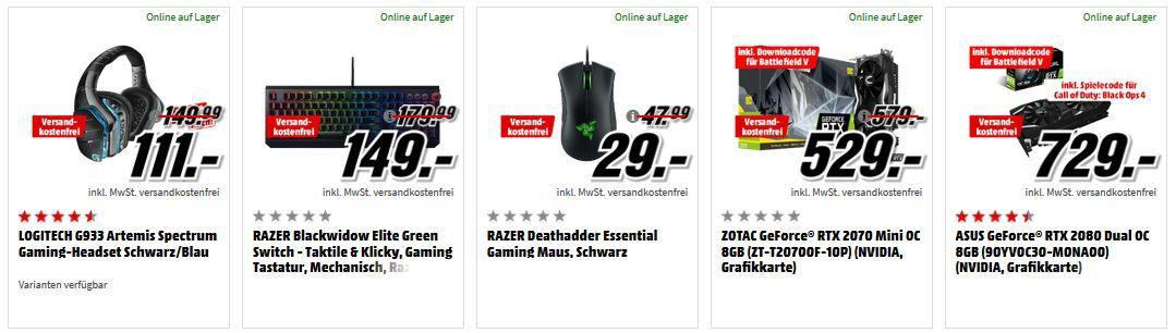 Media Markt Gaming Tiefpreisspätschicht: z.B. Logitech PowerPlay Mauspad mit Induktion  für 79€ (statt 100€)