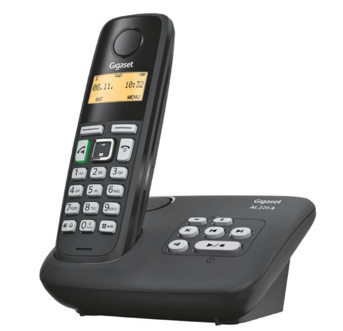 GIGASET AL225A   DECT Schnurlos Telefon mit Anrufbeantworter für 19,99€ (statt 30€)