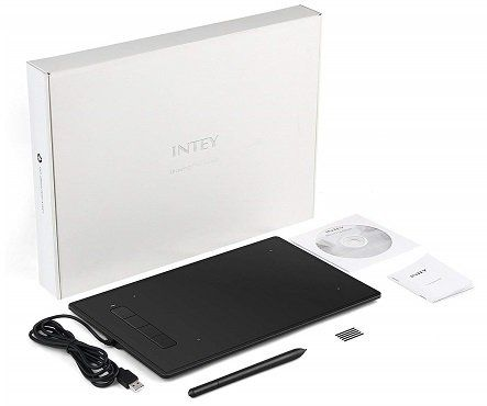 INTEY 9x6 Grafiktablett mit Digital Stift und 4 Expresstasten für 39,99€ (statt 60€)