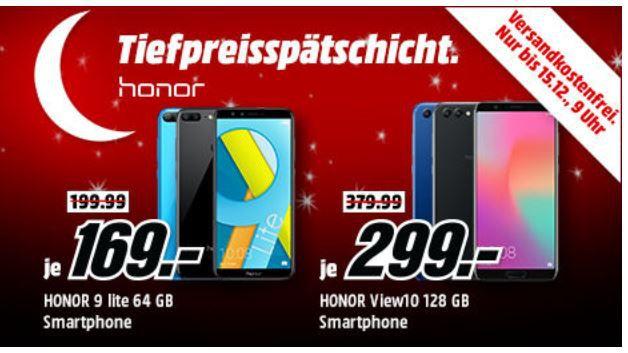 Media Markt Honor Tiefpreisspätschicht   z.B. HONOR View 10 DualSIM 128GB für 299€ (statt 385€)