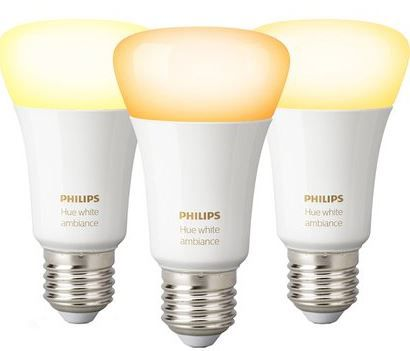 Philips Hue White Ambiance LED Lampe 3er Set E27/9,5 W ab 44,95€ (statt 60€)