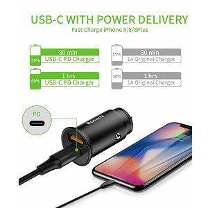 Baseus BS01 USB C Kfz Ladegerät mit QuickCharge 4.0 für 7,69€ (statt 14€)