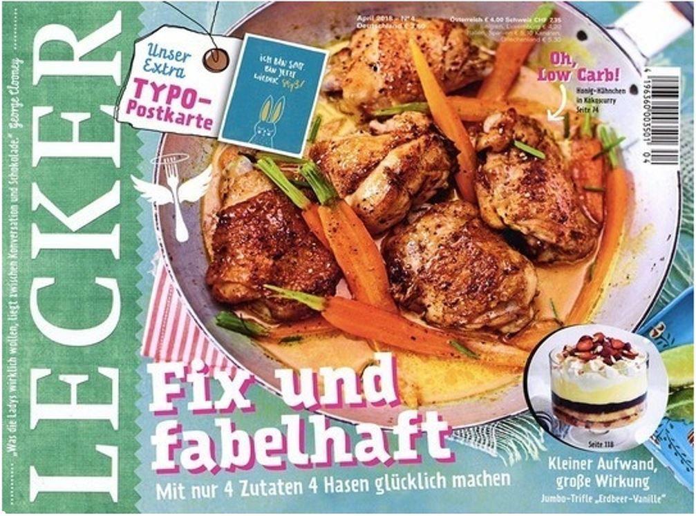 Lecker Koch Magazin im Halbjahresabo für 21€ + 18€ Scheck