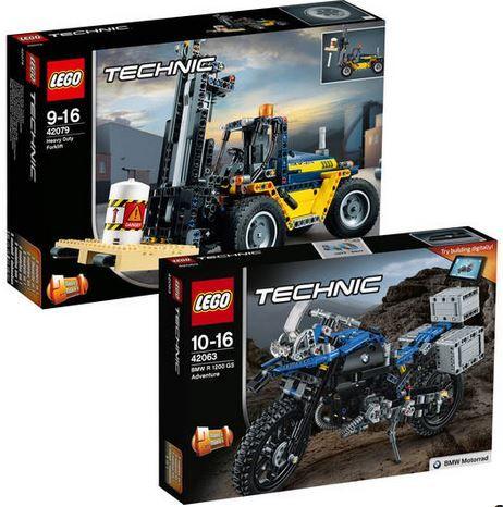 LEGO Technic Bundle: Schwerlast Gabelstapler 42079 + BMW R 1200 GS Adventure für 66,98€ (statt 82€)