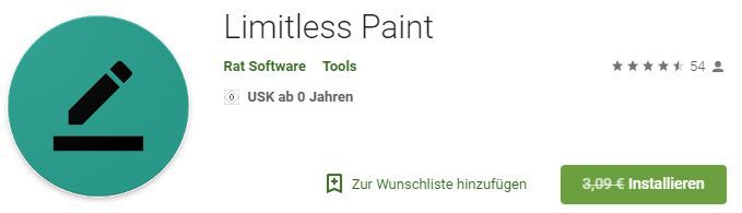Limitless Paint (Android) gratis statt 3,09€