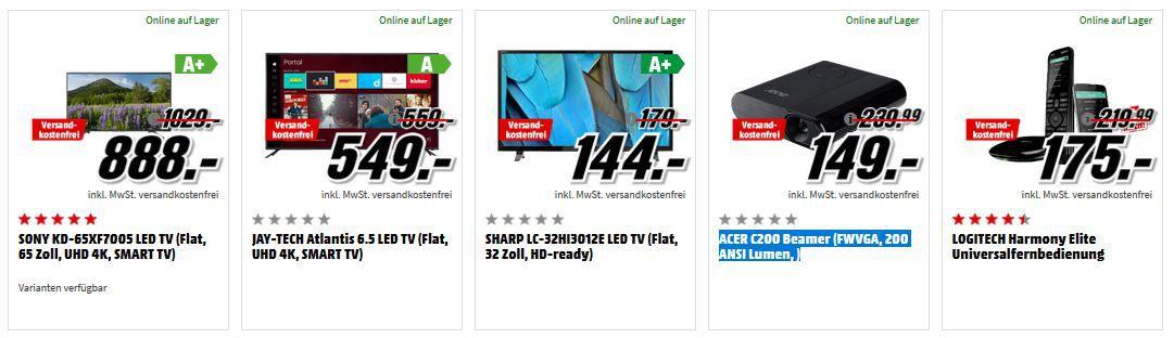Media Markt Adventskracher: günstige HiFi & Technik , Weihnachtsbaumbeleuchtung & Co.  z.B. ACER C200 Beamer für 149€ (statt 179€)
