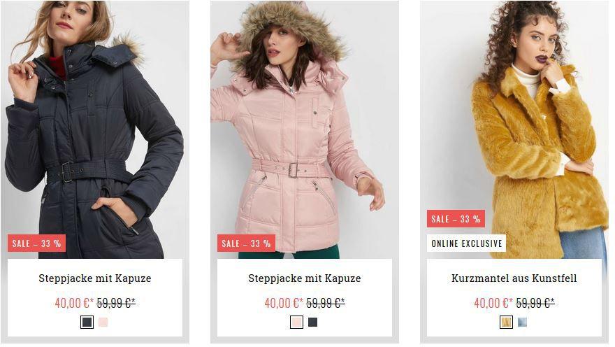 Orsay: 20% EXTRA Rabatt auf Jacken und Mäntel