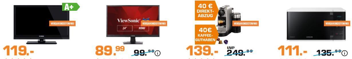 Saturn Adventskalender: heute z.B. 20 Zoll HD ready TV für 119€ (statt 133€)