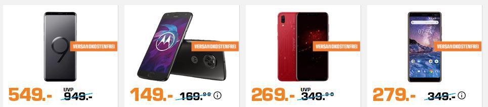 Saturn Smartphone Purzel Preise: z.B. BLACKBERRY KEYone Black Edition für 285€