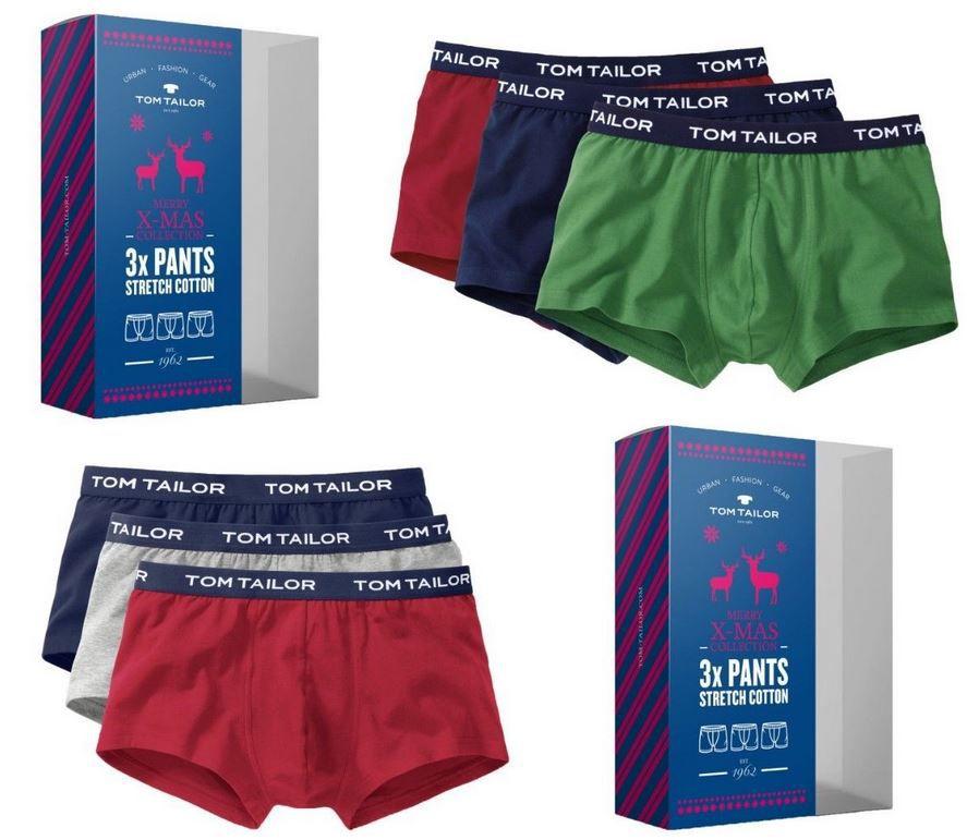 Tom Tailor Boxer Shorts  X Mas Collection 3er Pack für 24,99€ (statt 29€)