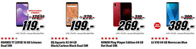 Top! Media Markt Adventskalender letzter Tag: heute u.a. Honor View 10   5,99 Smartphone mit 128 GB für 299€ (statt 359€)