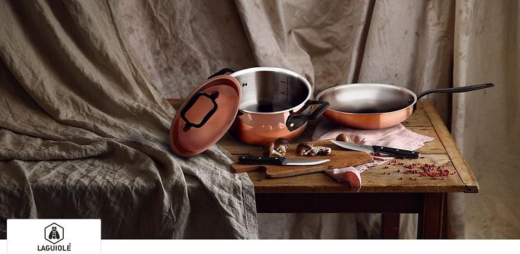 Laguiole Messer, Pfannen, Töpfe und Zubehör bei Veepee   z.B. 4er Set Kasserollen für 59,99€