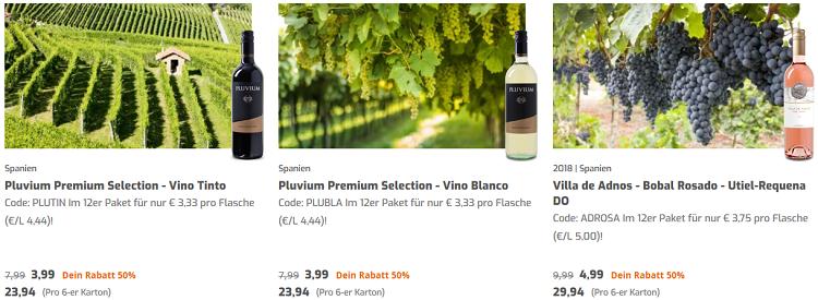 Weinvorteilspakete bei Weinvorteil   verschiedene Weine ab 3,33€ pro Flasche (MBW: 6 Flaschen)   ohne Versandkosten
