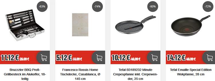 TOP12 Ausverkauf: ausgewählte Artikel ab 4,12€ z.B. Tefal Minute Crepespfanne für 15,24€ (statt 25€)
