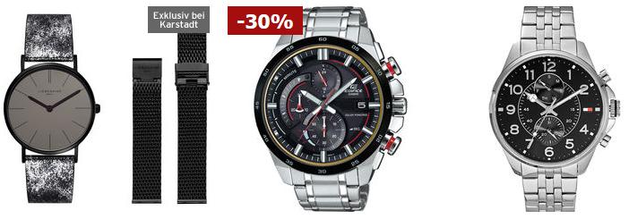 Karstadt Adventskracher mit 20% auf ausgewählte Uhren