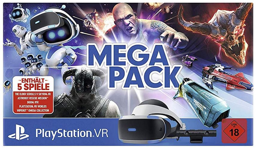 Playstation VR Brille Megapack: Kamera (V2) + 5 Games für 222,02 (statt 282€)
