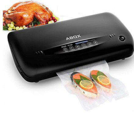 ABOX Automatische Vakuumiergerät mit eingebautem Cutter für 62,99€ (statt 90€)