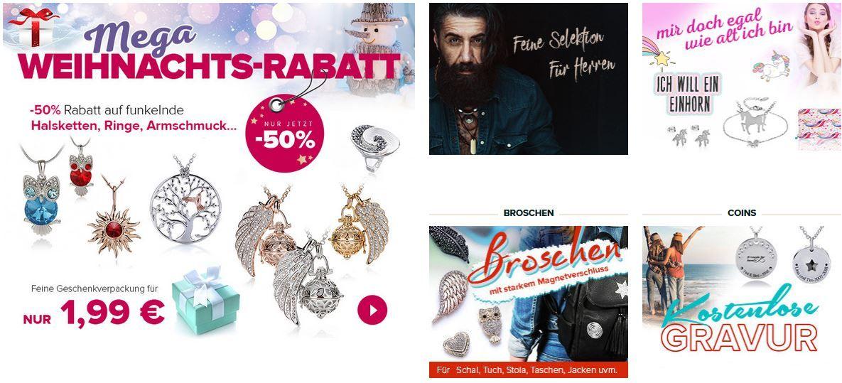 Silvity: Mega Weihnachts Rabatt mit bis zu 50% auf Schmuck!