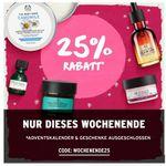 The Body Shop dieses Wochenende mit 25% auf alles – ab 45€ keine Versandkosten