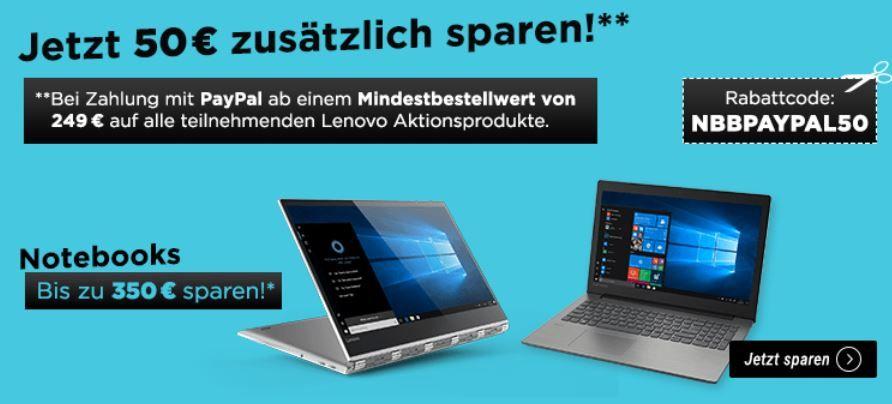 Lenovo Experience Days: Notebooks & Tablets mit bis 350€ Rabatt + 50€ extra Rabatt ab 249€ mit PayPal Zahlung