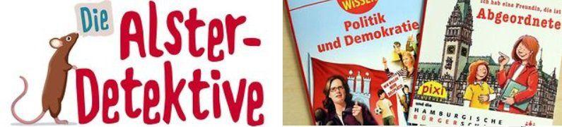 Pixi Buch und die MP3 Hörspielbox Die Alster Detektive gratis bestellen