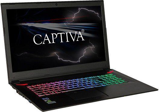 CAPTIVA Gaming I46 897 Gaming Notebook mit i7, 16GB RAM, 240GB SSD, 1TB HDD, GTX1060 für 1.299€ (statt 1.454€)