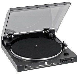DUAL DT 210 Plattenspieler mit Riemenantrieb in Schwarz für 77€ (statt 90€)