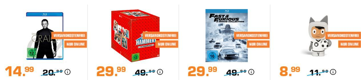Saturn Entertainment Weekend Deals: z.B. ANKI Overdrive Fast & Furious Rennbahn für 94,99€ (statt 133€)