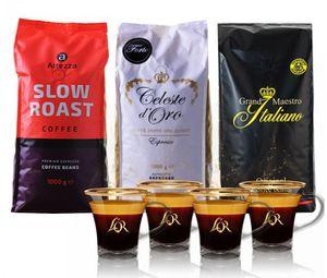 Exklusives Kaffeepaket Bestseller (3kg) + 4 LOR Espressotassen für 39,99€