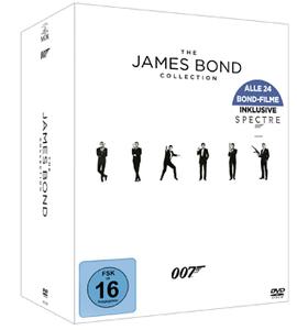 James Bond Collection 2016 auf 24 DVDs für 59€ (statt 80€)