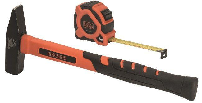 BLACK+DECKER BDHT9 30092 Set mit Hammer und Bandmaß für 8€ (statt 15€)