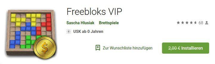 Für Android: Freebloks VIP gratis (statt 2€)