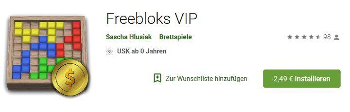 Für Android: Freebloks VIP gratis (statt 2,49€)