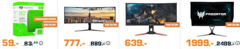 Saturn Entertainment Weekend Deals: z.B. SAMSUNG   43 Zoll Monitor für 777€ (statt 859€)
