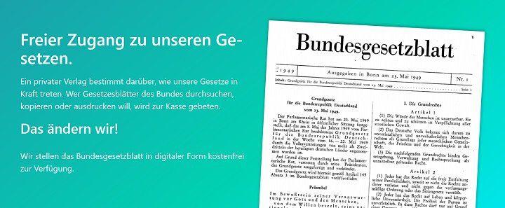 Gratis: Bundesgesetze bzw. das Bundesgesetzblatt im Volltext