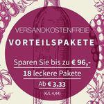 Weinvorteilspakete bei Weinvorteil – verschiedene Weine ab 3,33€ pro Flasche (MBW: 6 Flaschen) – ohne Versandkosten