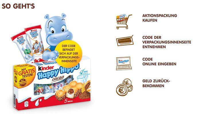 Gratis: Kinder Happy Hippo cacao
