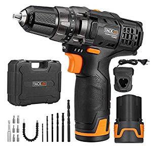Tacklife PCD03B Akkuschrauberset mit 2 Akkus und Koffer für 46,99€ (statt 70€)