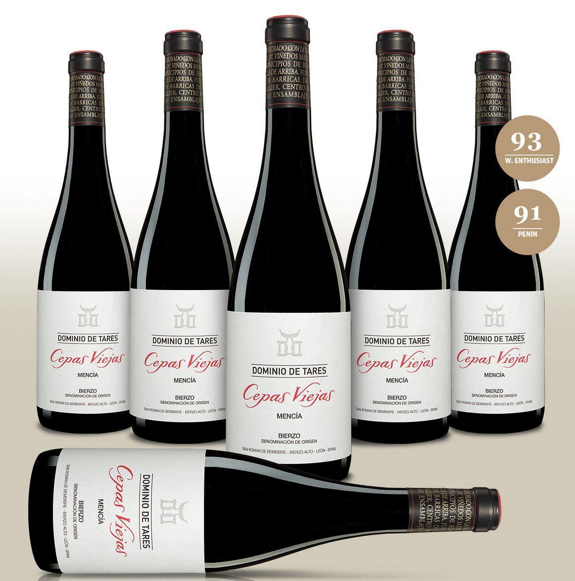 Dominio de Tares Cepas Viejas Mencia 2015   6Fl. trockener spanischer Rotwein für 60€