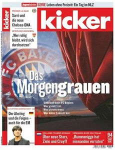 13 Ausgaben vom Kicker für 57,72€ inkl. 57,72€ Verrechnungsscheck