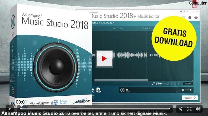 Gratis: Ashampoo Music Studio 2018
