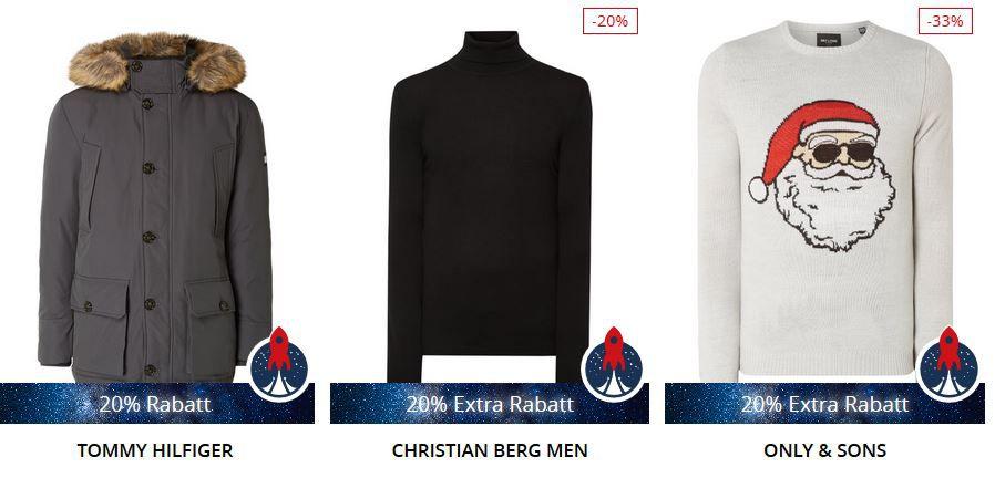 Peek & Cloppenburg* Christmas Countdown mit 20% extra Rabatt auf ausgewählte Artikel bis Mitternacht