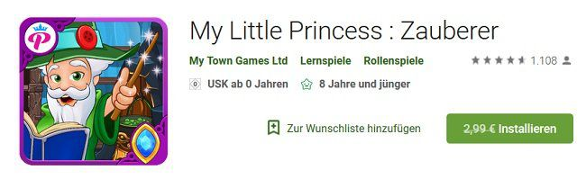 Android: My Little Princess : Zauberer gratis (statt 2,99€)