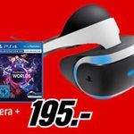 Playstation VR Brille + Kamera + VR Worlds + Game Astro Bot Rescure Mission für 195€ (statt 238€)