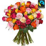 """Rosenstrauß """"HappyNewYear"""" mit 44 bunten Rosen [Fairtrade] für 23,98€"""