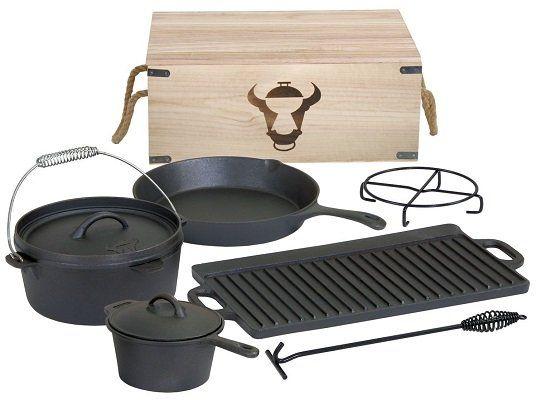 BBQ Toro Dutch Oven Set in Holzkiste für 69,95€ (statt 80€)