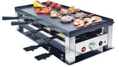 Solis 977.47 Tischgrill 5 in 1 inkl. 8 Raclettepfännchen, 8 Mini Wok, 8 Spachtel für 159,90€ (statt 190€)